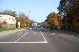 Markierung Angebotsstreifen Dresdner Straße