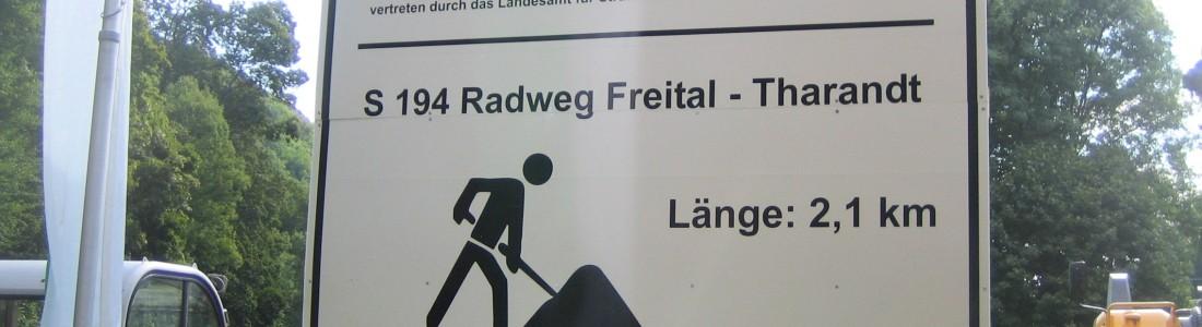 Baubeginn Radweg Tharandt